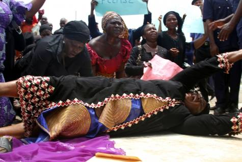 Nigerian Mothers Protesting