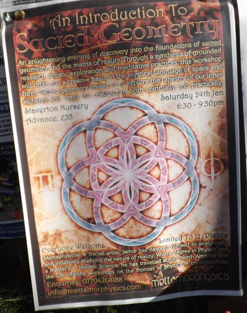 Sacred Geometry Workshop Advert